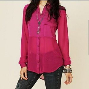 Free People Best of Both World's Button Tunic